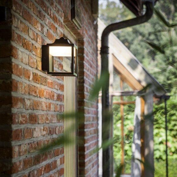Επίτοιχο LED Vintage Φωτιστικό Εξωτερικού Χώρου 9Watt Lutec Zoe από Χυτό Αλουμίνιο Μαύρο