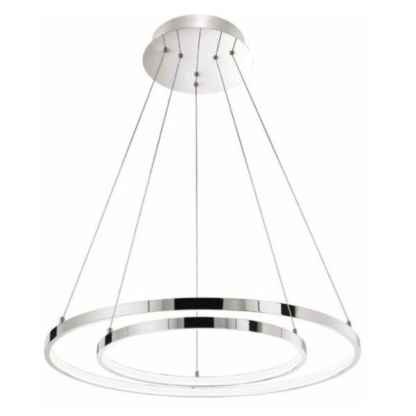 LED Πολύφωτο Σαλονιού Κρεμαστό Μεταλλικό Με ρυθμιζόμενο Σχήμα Nova Luce Aria 75Watt 3000K
