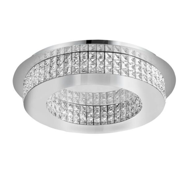 Φωτιστικό οροφής μοντέρνο - κρύσταλλα Κ9 & αλουμίνιο - Zeffari - Nova Luce