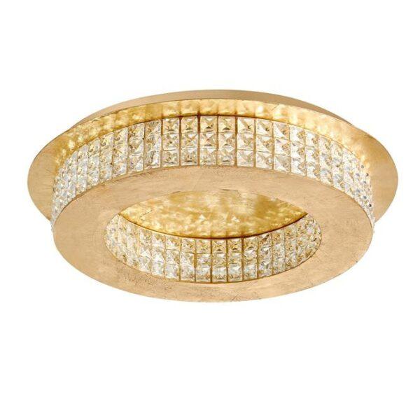 Φωτιστικό οροφής μοντέρνο - κρύσταλλα Κ9 & χρυσαφί αλουμίνιο - Zeffari - Nova Luce