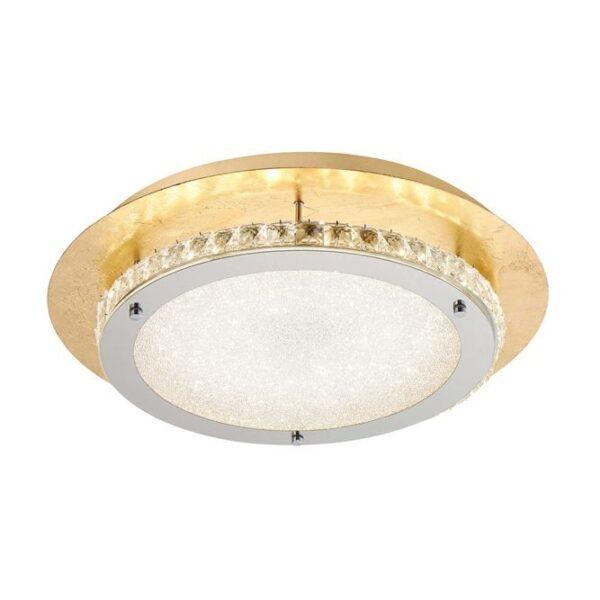 Φωτιστικό οροφής μοντέρνο - κρύσταλλα Κ9 & αλουμίνιο & acrylic sand - Zeffari - Nova Luce