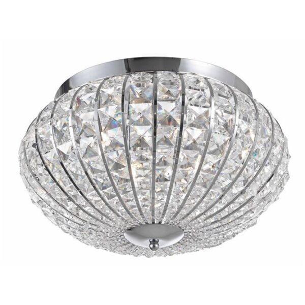 Φωτιστικό οροφής  - κρύσταλλα και αλουμίνιο - Kelly - Nova Luce