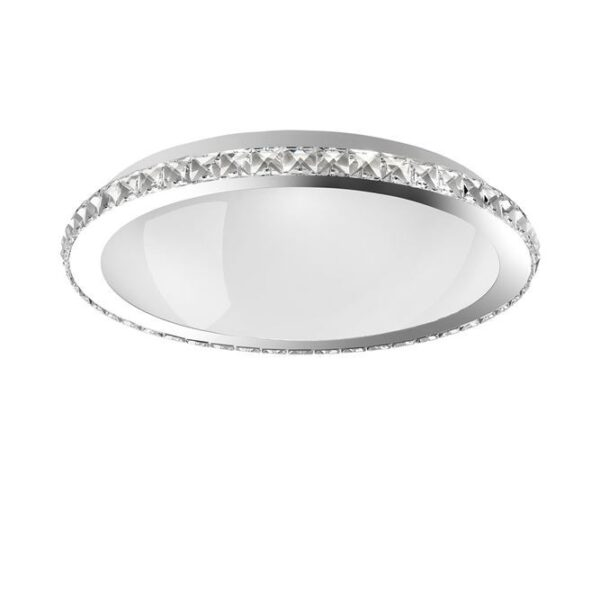 Φωτιστικό οροφής  - κρύσταλλα K9, μέταλλο και λευκό γυαλί - D50,5 - Palermo - Nova Luce