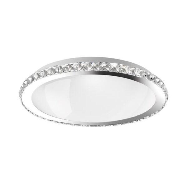 Φωτιστικό οροφής  - κρύσταλλα K9, μέταλλο και λευκό γυαλί - D31 - Palermo - Nova Luce