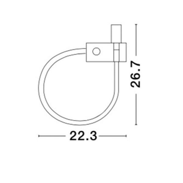 Spot led τοίχου - αλουμίνιο - adjustable - Geneva - Nova Luce