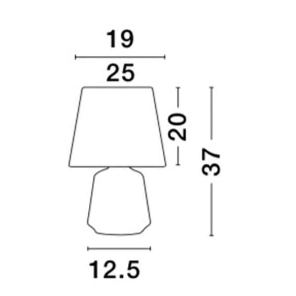 Φωτιστικό Επιτραπέζια Λάμπα - Μέταλλο  & Υφασμάτινο Καπέλο  _  Ada _ Nova Luce