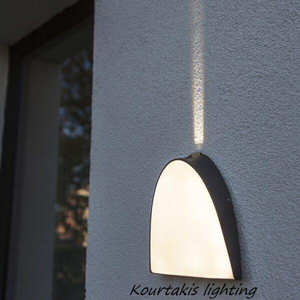 led φωτιστικό τοίχου στεγανό_lutec_apollo