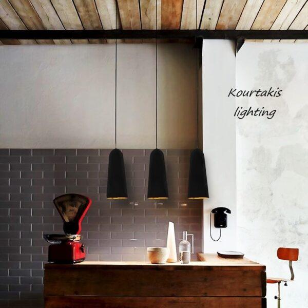Luma industrial μεταλλικό μοντέρνο μονόφωτο φωτιστικό κρεμαστό