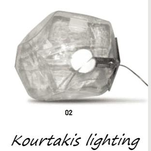 luma φωτιστικό δαπέδου σε μοντέρνο ακανόνιστο σχήμα