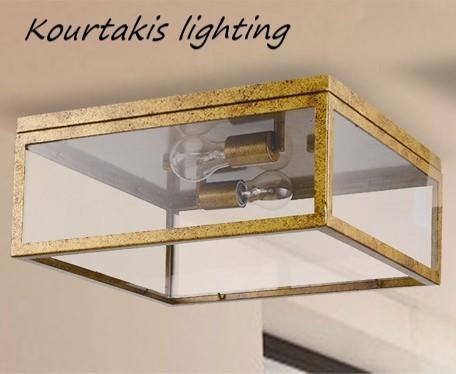 φωτιστικό μεταλλικό οροφής vintage luma 114 01016 21
