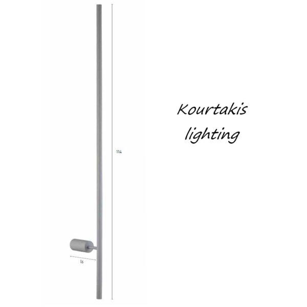 led φωτιστικό τοίχου μεταλλικό_luma