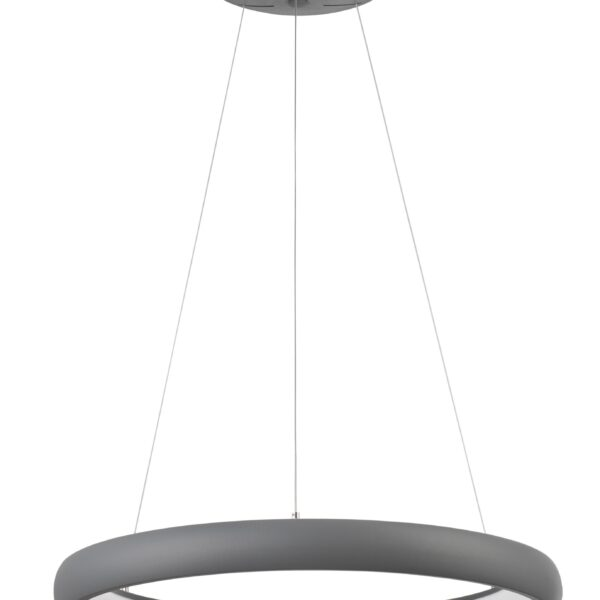 Led φωτιστικό κρεμαστό σαλονιού - λευκό αλουμίνιο - albi nova luce