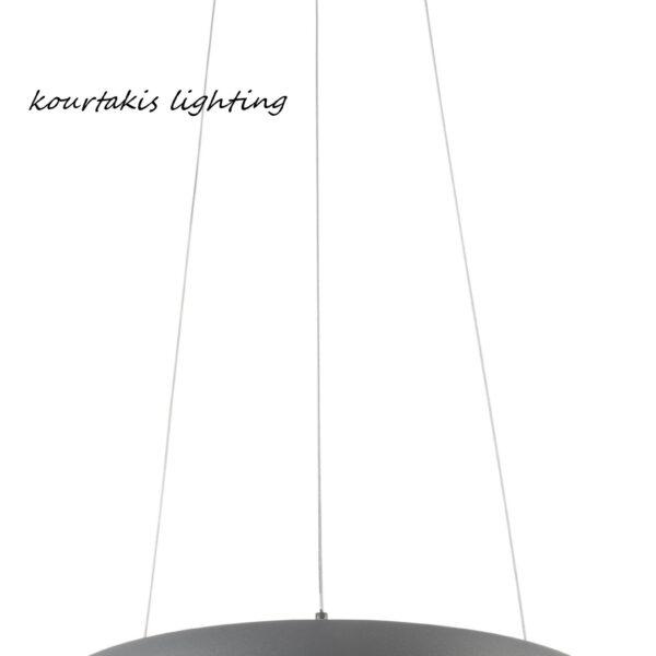 Led φωτιστικό κρεμαστό σαλονιού - Γκρί αλουμίνιο - albi nova luce