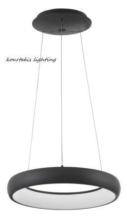 Led φωτιστικό κρεμαστό σαλονιού - Μαύρο αλουμίνιο - albi nova luce