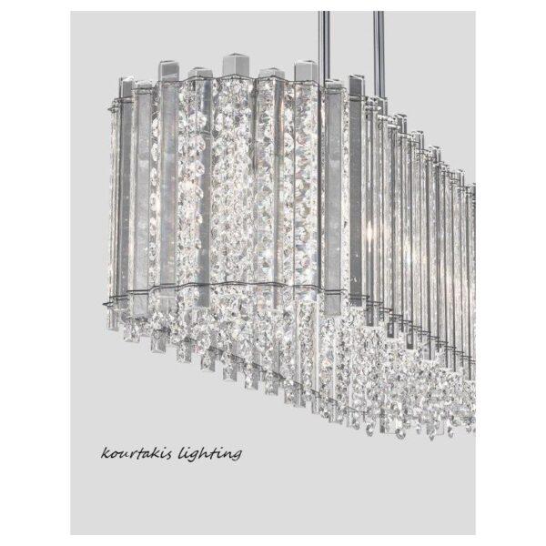 Κρεμαστό πολύφωτο από γυαλί και κρύσταλλο - ELEMENT - Nova Luce