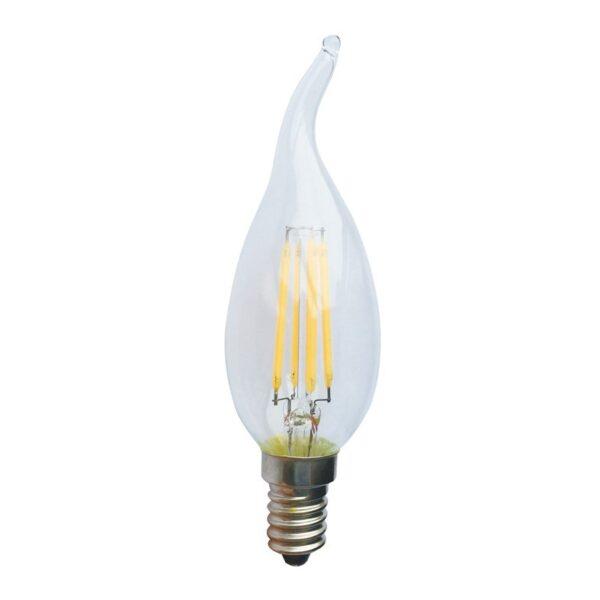 Led Λάμπα Ε14 4Watt Decor Tip 410Lumen Φυσικό Λευκό 4000Κ
