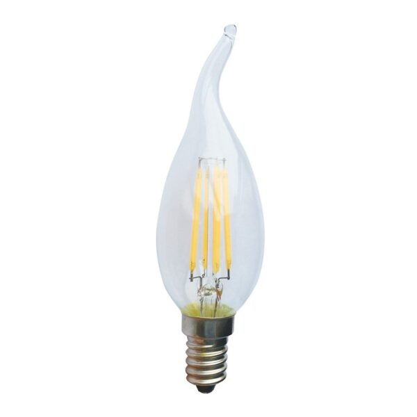 Led Λάμπα Ε14 4Watt Decor Tip 390Lumen Θερμό Λευκό 2700K Ντιμαριζόμενη