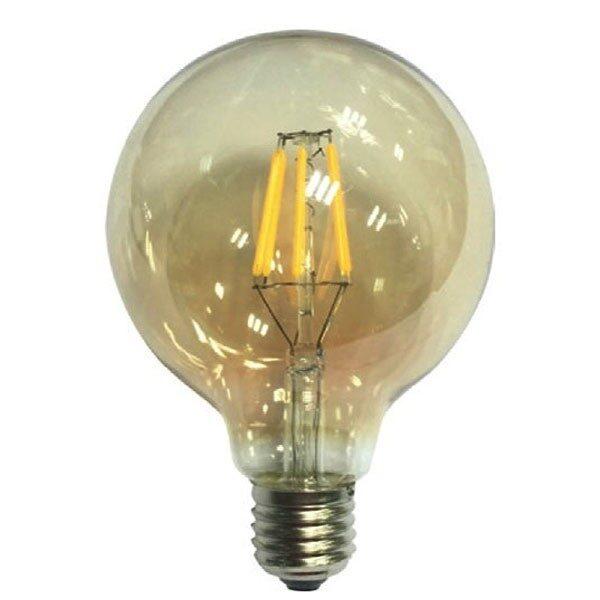 Led Λάμπα Ε27 6Watt Amber Globe 680Lumen Θερμό Λευκό 2700Κ Ντιμαριζόμενη