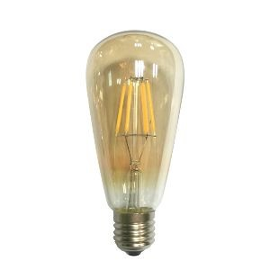 Led Λάμπα Ε27 6Watt Edison 590Lumen Θερμό Λευκό 2700Κ Ντιμαριζόμενη