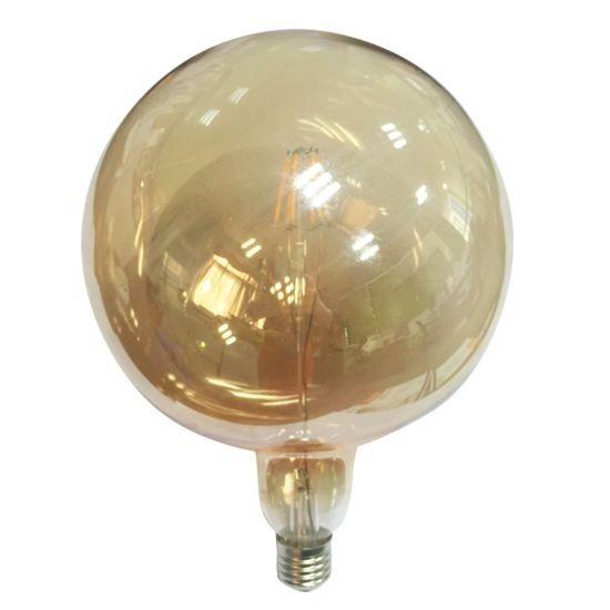 Led Λάμπα Ε27 6Watt Amber Quma Θερμό Λευκό 2700Κ Ντιμαριζόμενη