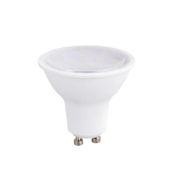Led Λάμπα GU10 3Watt Ευρείας Δέσμης SMD Θερμό Λευκό 3000Κ