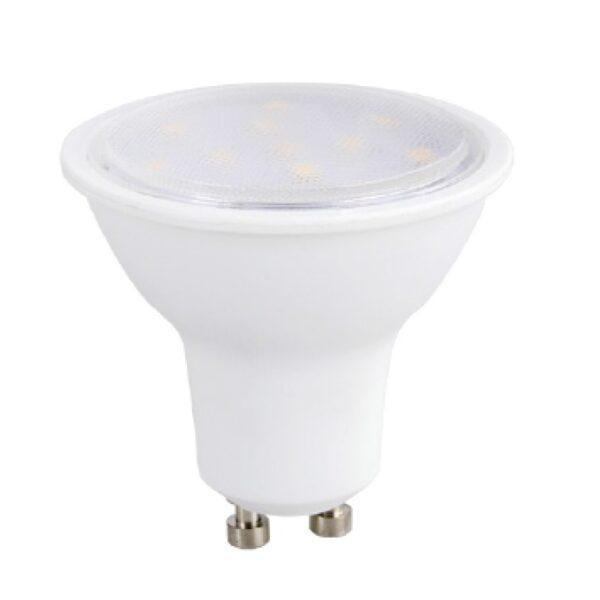 Led Λάμπα GU10 3Watt Ευρείας Δέσμης SMD 250Lumen Θερμό Λευκό 3000Κ Ντιμαριζόμενη