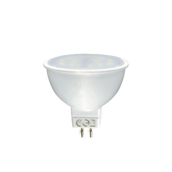 Led Λάμπα MR16 7Watt Ευρείας Δέσμης SMD 555Lumen Ψυχρό Λευκό 6000Κ
