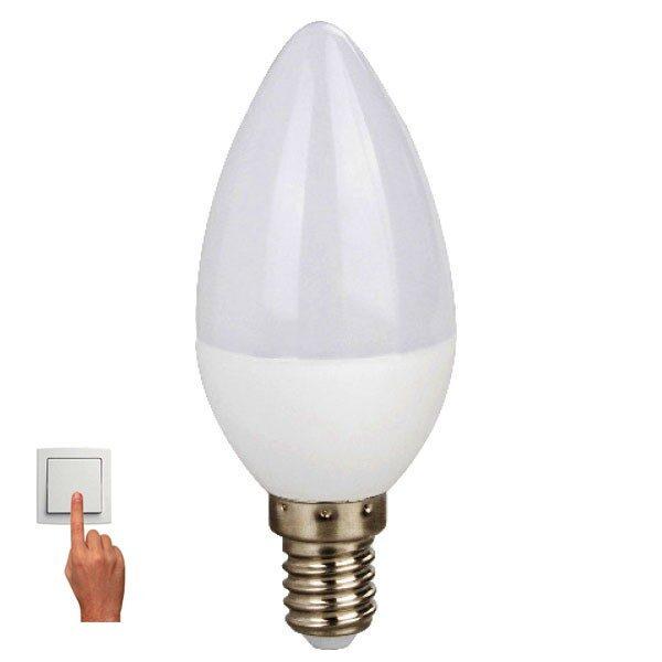 Led Λάμπα E14 5Watt Candle 360Lumen Φυσικό Λευκό 4000Κ Step Dimmable