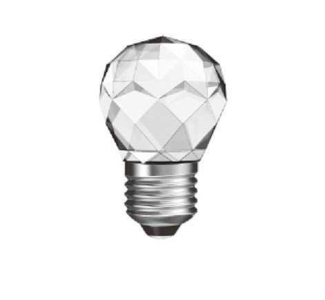 Led Λάμπα E27 3Watt Σφαιρική CrystalLed Ball 320Lumen Φυσικό Λευκό 4000Κ