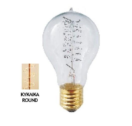 Λάμπα Edison E27 40Watt Filament A60 Tip Θερμό Λευκό 2200Κ