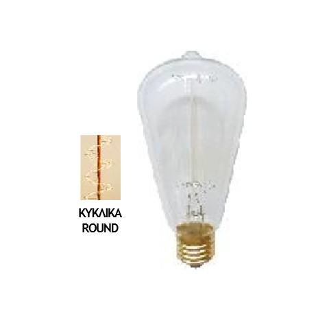 Λάμπα Edison E27 40Watt Filament R Type Θερμό Λευκό 2200Κ