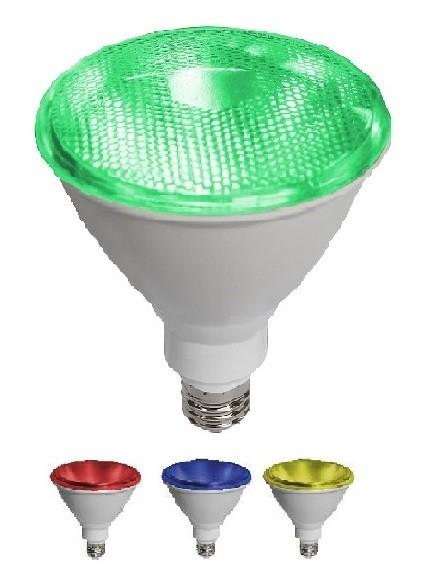 Led Λάμπα PAR38 10Watt SMD Colorful 890Lumen Πράσινο