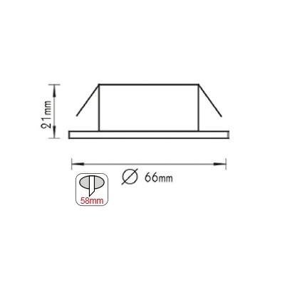 Σποτ Οροφής Επίπλου Χωνευτό Στρογγυλό G4