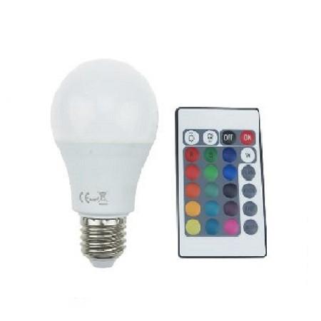 Led Λάμπα E27 4Watt Smart 650Lumen RGB + Θερμό Λευκό 3000Κ