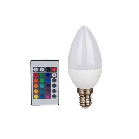 Led Λάμπα E14 4Watt Smart Κεράκι 300Lumen RGB + Θερμό Λευκό 3000Κ