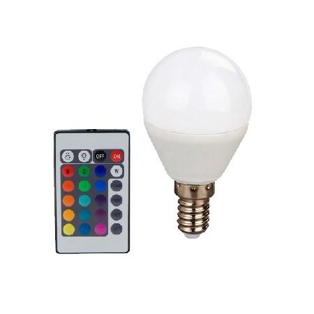 Led Λάμπα E14 4Watt Smart Σφαιρική 300Lumen RGB + Θερμό Λευκό 3000Κ