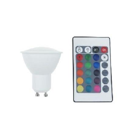 Led Λάμπα GU10 4Watt Smart 250Lumen RGB + Θερμό Λευκό 3000Κ