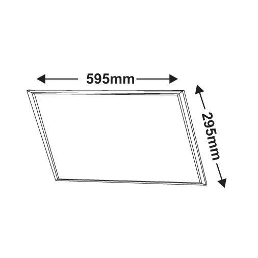 Led Πάνελ Οροφής 24Watt 595 x 295mm Slim