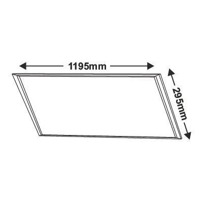 Led Πάνελ Οροφής 45Watt 295 x 1195mm Slim