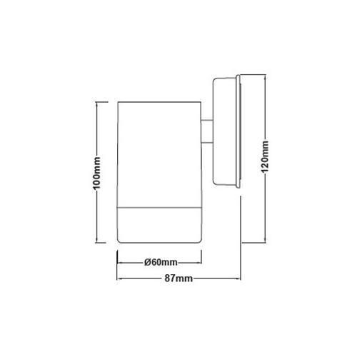 Spot Πλαστικό GU10 Μονής Δέσμης Εξωτερικού Χώρου Σκουριά