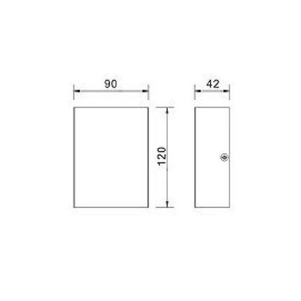 Led Απλίκα Τοίχου Δύο Δέσμεων 230V AC Εξωτερικού Χώρου