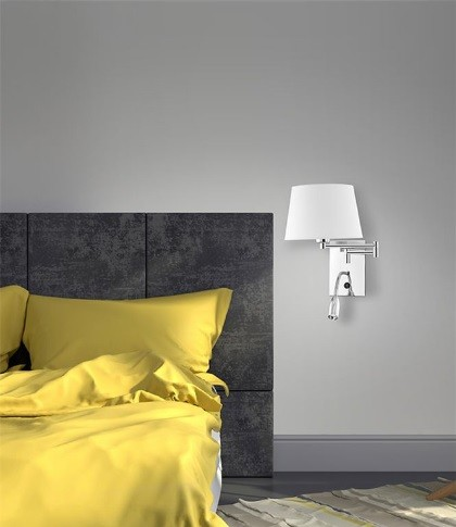 Απλίκα LED Τοίχου 3Watt Μέταλλο & Ύφασμα Cingo