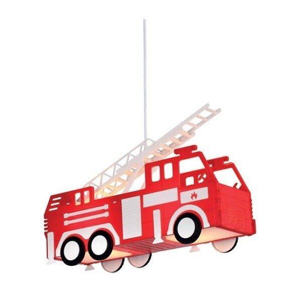 Φωτιστικό Παιδικό Κρεμαστό Πλαστικό με Μέταλλο Πυροσβεστικό Κόκκινο
