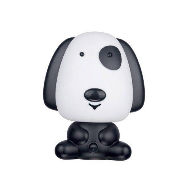 Φωτιστικό Επιτραπέζιο Παιδικό Πλαστικό Σκύλος Ασπρόμαυρο