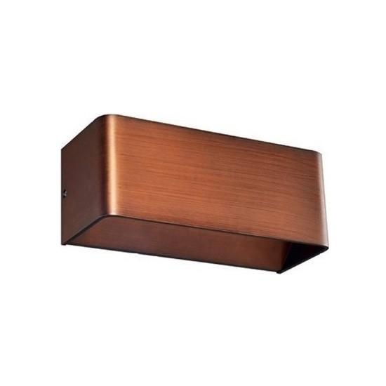 LED Φωτιστικό Επίτοιχο Μεταλλικό Μοντέρνο σε Απόχρωση Ξύλου με Θερμό Λευκό Φωτισμό