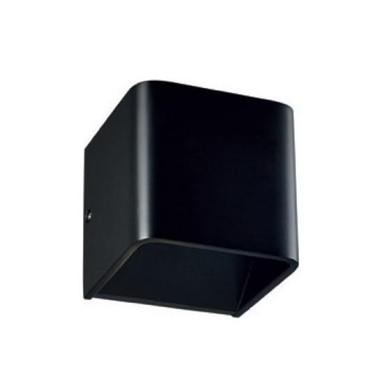 LED Επίτοιχο Φωτιστικό Μοντέρνο Μεταλλικό Μαύρο με Θερμό Λευκό Φωτισμό