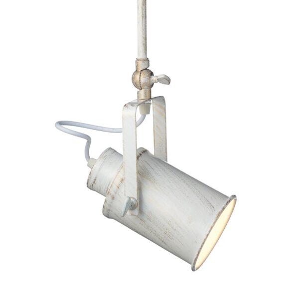 Φωτιστικό Μοντέρνο Σποτ Οροφής Μεταλλικό Πατίνα Λευκό - Χρυσό