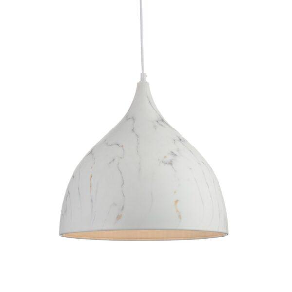 ACA Lighting Κρεμαστό Μοντέρνο Φωτιστικό Μεταλλικό Μονόφωτο Λευκό
