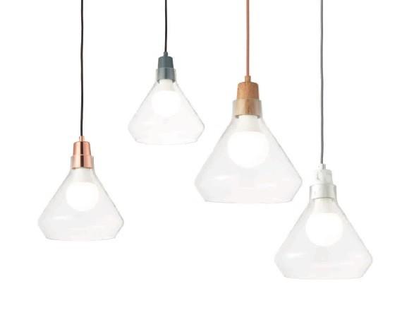 ACA Lighting Μοντέρνο Γυάλινο Μονόφωτο Κρεμαστό με Χρωματιστό Κάλυμμα Ντουΐ