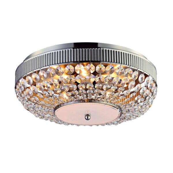 ACA Lighting Μοντέρνο Φωτιστικό Οροφής με Κρύσταλλα και Μέταλλο σε δύο Εκδόσεις